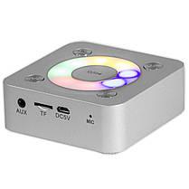 Мини bluetooth колонка BL NIGIN A9 серебристая беспроводная портативная с микрофоном AUX USB карта памяти mp3, фото 3
