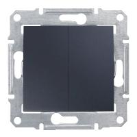 Выключатель двухклавишный проходной Schneider Electric Sedna Графит (sdn0600170)