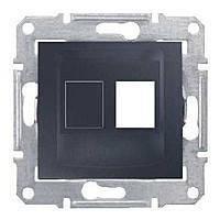 Накладка одномодульная AMP, MOLEX, KELINE Schneider Electric Sedna Графит (SDN4300670)