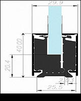Профиль зажимной клемный для стекла КР-40
