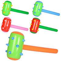 Надувная игрушка MSW 004 (480шт) молоток, 62-32см,микс цветов, в кульке,,14-15-1,5см