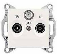 Розетка TV/R/SAT 4 дБ проходная Schneider Electric Sedna Слоновая Кость (SDN3501423)