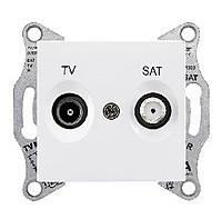 Розетка TV/SAT 4 дБ проходная Schneider Electric Sedna Белый (SDN3401921)