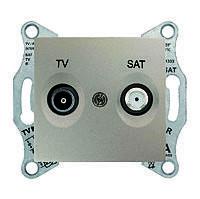 Розетка TV/SAT оконечная Schneider Electric Sedna Титан (sdn3401668)