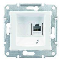 Розетка телефонная одинарная Schneider Electric Sedna Белый (sdn4101121)