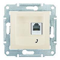 Розетка телефонная одинарная Schneider Electric Sedna Слоновая Кость (sdn4101123)