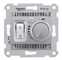 Термостат для теплого пола 10 А с датчиком Schneider Electric Sedna Алюминий (sdn6000360)
