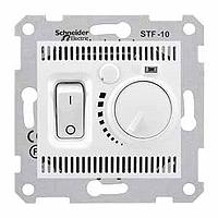 Термостат для теплого пола 10 А с датчиком Schneider Electric Sedna Белый (sdn6000321)