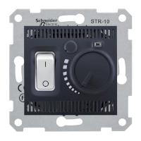 Термостат для теплого пола 10 А с датчиком Schneider Electric Sedna Черный (sdn6000370)