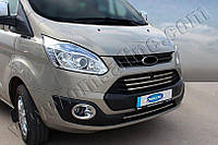 Накладки на решетку радиатора Ford Transit Custom (2012-) (нерж.) 5 шт