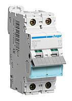 Автоматический выключатель Hager In=100А 2п С 10kA 3м (HLF290S)