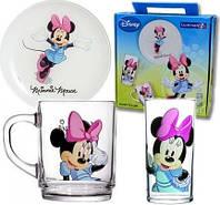 Детский набор Luminarc Disney Minnie Colors, в коробке 3 предмета