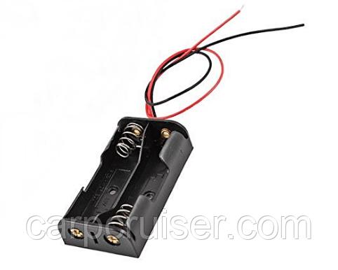Слот, тримач батарей АА 2 шт 1,5 В для підключення зовнішнього живлення датчик бездротового ехолота кораблика