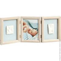 Набор Для Отпечатков Baby Art My Baby Touch Wooden Double Frame Stormy (34120173)