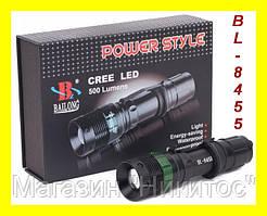 Тактический фонарик Police BL-8455 99000W с линзой