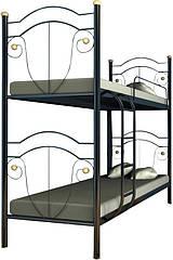 Кровать двухъярусная железная Диана Металл-Дизайн 80×200
