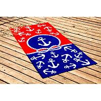 Полотенце Lotus пляжное - Red&Blue 75*150 велюр