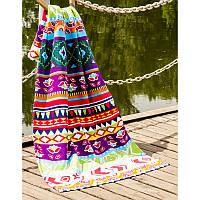 Полотенце Lotus пляжное - Ornament  75*150 велюр