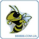 Наклейка Злая пчела 11 см x 11 см