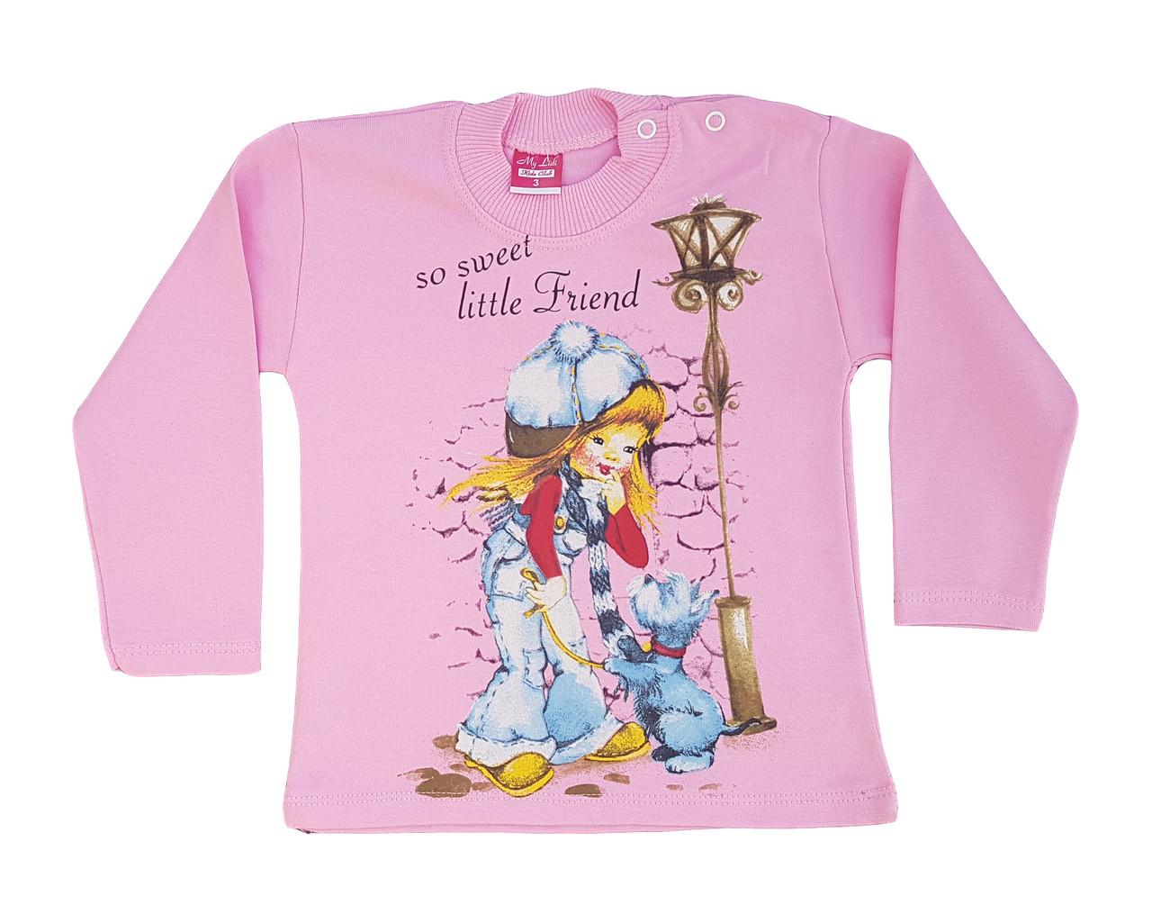 Джемпер для девочки розовый, размер 1
