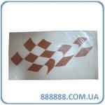 Наклейка Кубики - шашечки коричневые 2 шт/комплект цена за комплект 6 см x 11 см