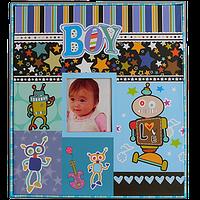 Детский фотоальбом для малыша на 80 фотографий, Робот