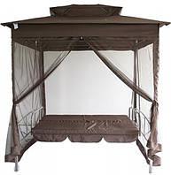 Садові гойдалки, качели + палатка з москітною сіткою