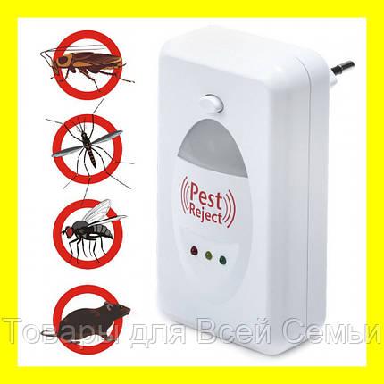 Ультразвуковой электромагнитный отпугиватель насекомых и грызунов Pest Reject, фото 2