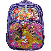 """Рюкзак детский школьный 3D для девочек """"Винкс"""" (37х28см.) фиолетовый"""