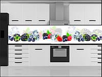 Стеклянный фартук для кухни - скинали ягоды