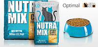 Nutra Mix Optimal корм для взрослых кошек c курицей, рисом и морепродуктами, 9.07 кг
