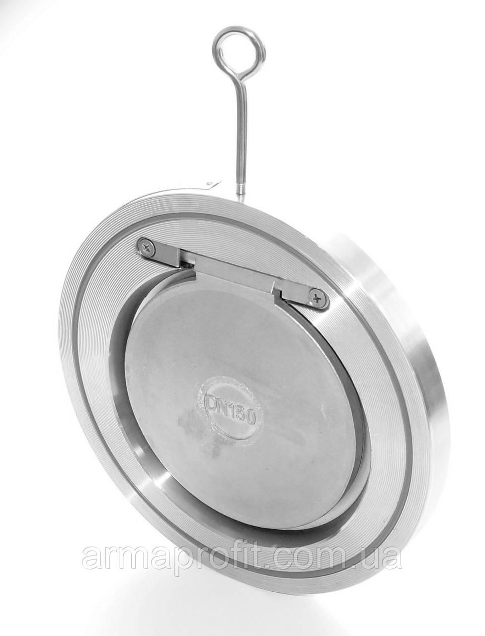 Клапан обратный нержавеющий межфланцевый GENEBRE тип 2406 AISI316 Ду100 Ру16