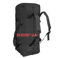Сумка-рюкзак черная  военная MIL-TEC Black, 70 литров  13845002