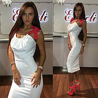 Платье тм Enneli размер S M L ткань микромасло цвет черный, т-синий ,белый, фиолетовый,