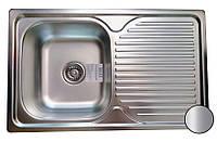 Кухонная стальная мойка (78*48*18 см) Galati Constanta Nova Satin 8487