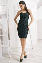 Джинсовое  мини платье с гипюром, фото 2