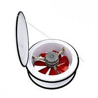 Вентилятор вытяжной HOROZ Турция 50W Speed 1100 Air flow 890 IP20., фото 1