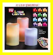 """Набор светодиодных свечей """"Luma Candles 12 цветов!Купить сейчас"""