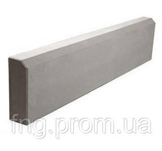 ЗОЛОТОЙ МАНДАРИН Поребрик 1000х200х60 мм красный на сером цементе