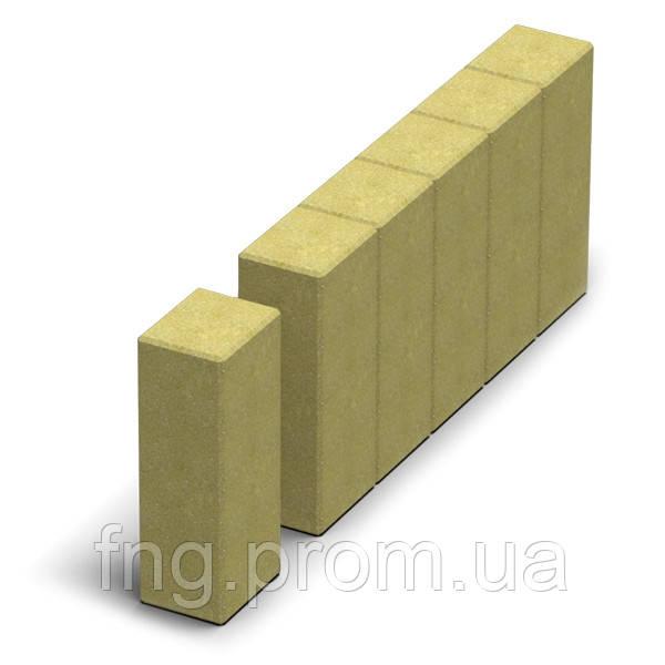 ЗОЛОТОЙ МАНДАРИН Поребрик фигурный квадратный 500х80х250 мм серый