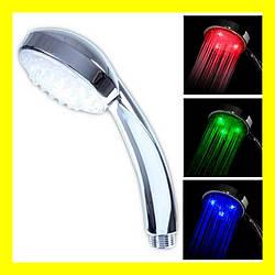 Светодиодная насадка для душа Led Shower RGB color