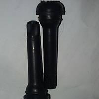 Сосок безкамерки длинный черный резиновый