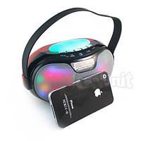 Портативная Bluetooth колонка WS-1803B 2*3W светомузыка (microSD, USB, FM, HF)!Акция