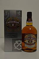 Виски Chivas Regal 12 лет 1 л (в подарочной упаковке)
