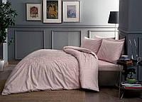 Постельное белье ТАС сатин Fabian розовое  евро размера