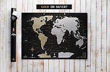 Скретч карта My Map Black edition Silver