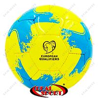 Мяч футбольный DX World Cup 2016-2018 FB-5421-5 (№5, 5 сл., сшит вручную, желто-голубой)