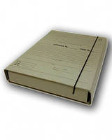 Короб архивный для нотариусов 40 х 320 х 240, с планками для подшивки документов, на резинке, крафтбумага