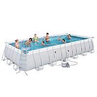 Каркасный бассейн BESTWAY 56475 (671х366х132 см), для всей семьи