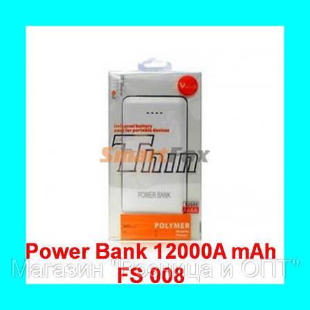 Внешнее зарядное устройство Power Bank 12000Am mAh FS008!Акция, фото 2